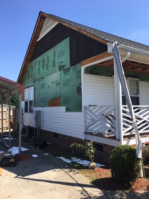 Siding and gutter installation